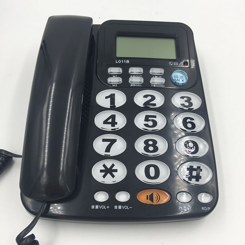 FSK DTMF Caller ID Handfree Corder Telephone Loud Ringtone Fixe Landline Phone Without Battery For Old