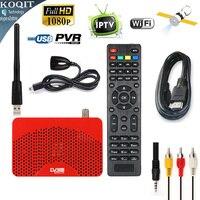 Rozmiar Mini Cyfrowy Odbiornik Satelitarny DVB-S2 MPEG4 H.264 1080 P HD AC3 Tuner TV Wsparcie Wifi Youtube Cccam IPTV lista m3u Powe Biss