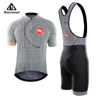 Racmmer 2019 Pro Summer Cycling Jersey Set Mountain Bike Clothing MTB Bicycle Clothes Wear Maillot Ropa Ciclismo Men Cycling Set