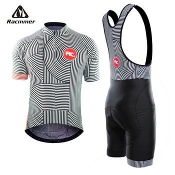 Racmmer 2019 Pro verano Ciclismo Jersey juego bicicleta de montaña Ropa MTB  bicicleta Ropa traje de Ropa de Ciclismo hombres Ciclismo conjunto eae46b5b01b5