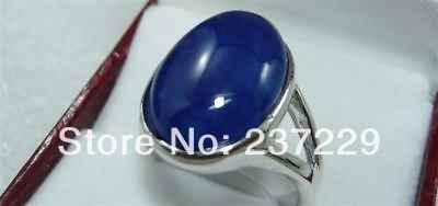จัดส่งฟรี>>>@@ขายส่งราคาS ^^^^หยกสีฟ้าที่สวยงามแหวน7 8 9