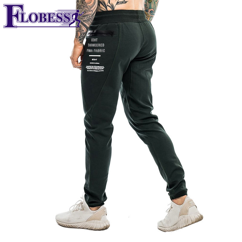 Trustful Men Running Pants Fitness Gym Jogger High Elastic Sport Trouser Gym Casual Workout Stripe Basketball Sportwear Male Sweatpants Running Pants Sports & Entertainment