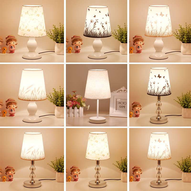Modest Modern Simple Metal Led Table Lamp Luminaria Novelty Wood Fabric Bedroom Led Table Lights Fixtures Led Table Light Tafellamp Lights & Lighting Led Table Lamps