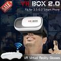 """Новый Google картон HeadMount VR 2.0 VR Виртуальная 3D Очки для 3.5 """"-6.0"""" Смартфон + Bluetooth Пульт дистанционного управления"""