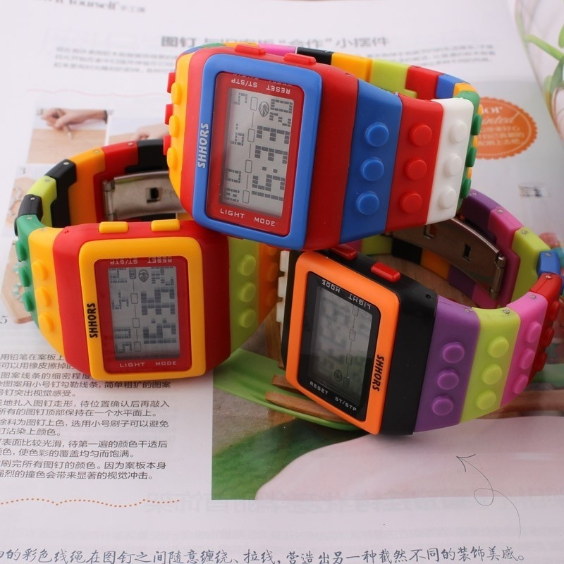New LED Kids Watch Fashion Casual Cartoon Watches Colorful Rainbow Girls & Boys Digit Clock Hour Wristwatches LL