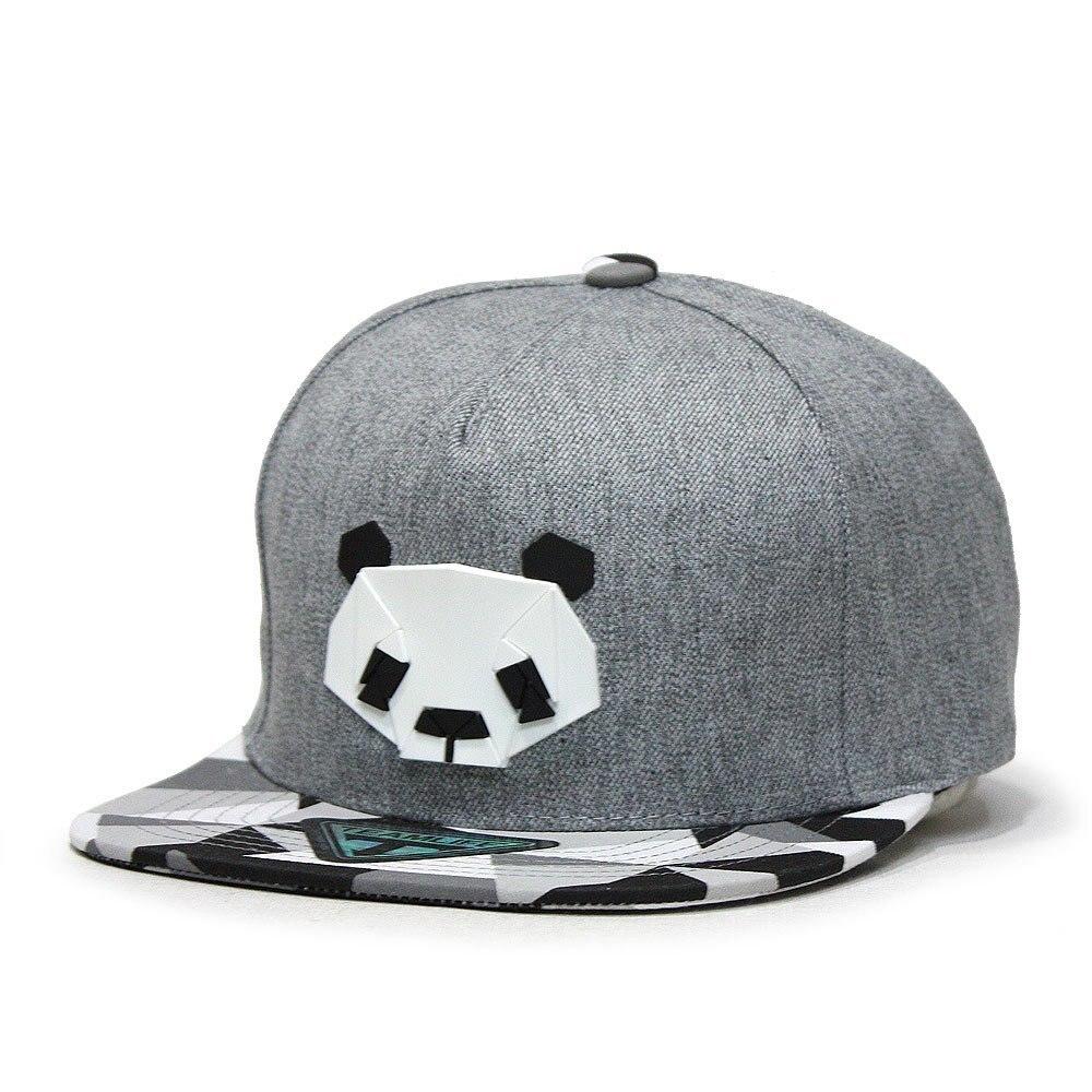 Baseball     Cap   For Women Men Panda Pattern Cute Hip-hop   Caps   Adjustable Buckle Unisex Cotton Hats Good Quality White Black Gray