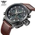 Esporte Militar Relógios de Mergulho 30 M Relógios LED AMST Genuíno Relógio De Quartzo Dos Homens Top Marca de Luxo reloj hombre Relogio masculino