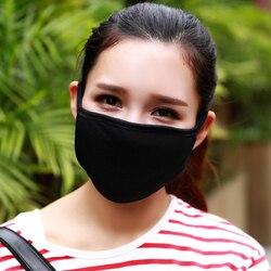 Модная хлопковая трикотажная маска для лица для езды на велосипеде, непродуваемая защита от пыли, респиратор, черный респиратор