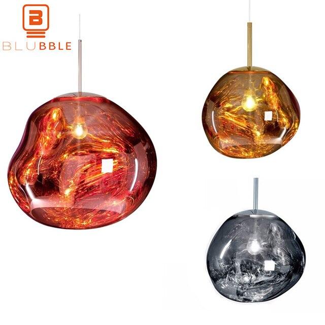 BLUBBLE מודרני קסם לבה תליון אורות טום דיקסון להמיס זכוכית שקוף תליון מנורת קלאסי מקורי Hanglamp סלון מנורה
