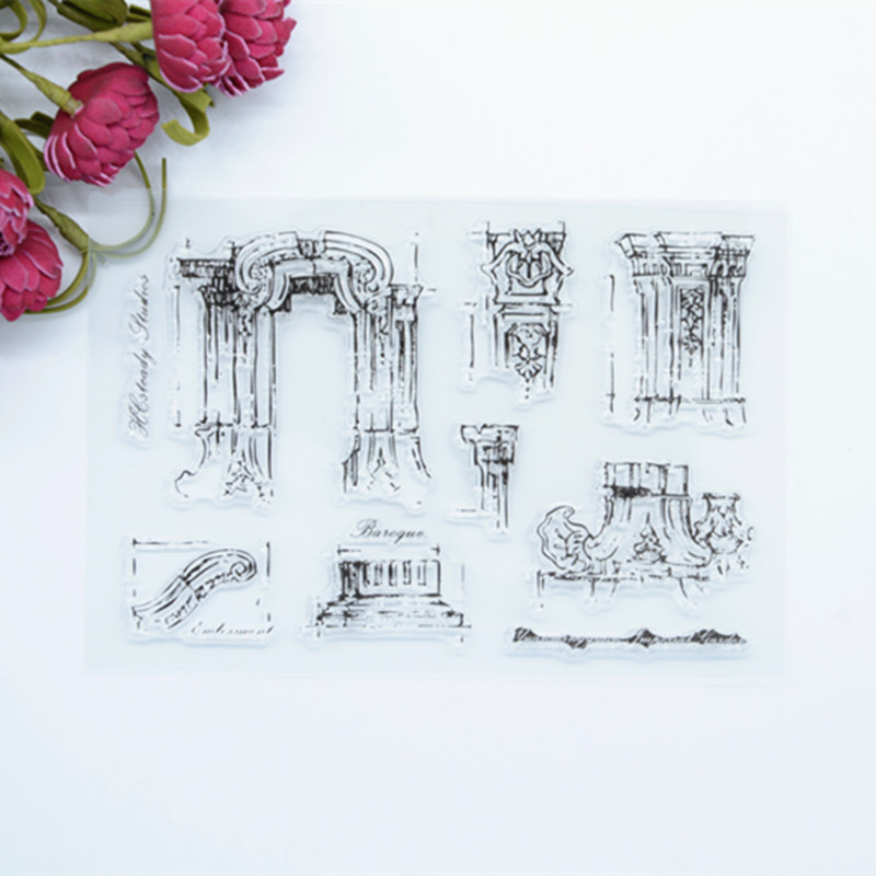 цена на WYF420  11x16cm  The old summer palace brand new  Scrapbook DIY Photo Album Account Transparent Silicone Rubber Clear Stamps