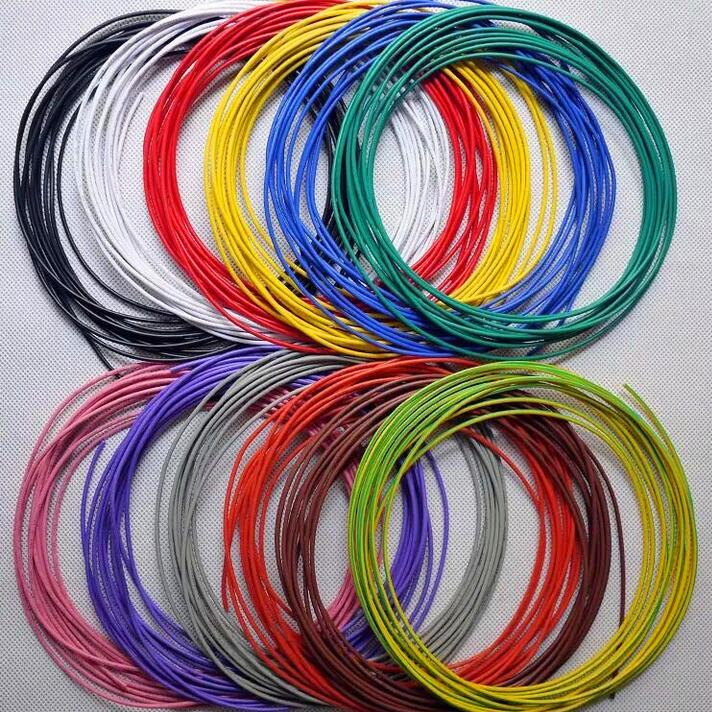 20M/1LOT 16AWG 18AWG 20AWG 22AWG 24AWG 26AWG <font><b>UL1007</b></font> multicolor Environmental Electronic Wire cable can mixed color image