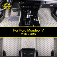 Artificial Leather Car Floor Mats For Ford Mondeo IV Custom Waterproof Artificial Leather Floor Carpet Mats