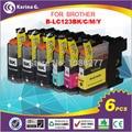 6X Картриджи для Brother LC123 mfc-J4510DW MFC-J4610DW Принтер Картридж LC 123 MFC-J4410DW J4710DW