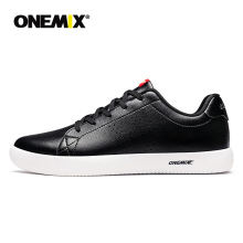 ONEMIX skateboarding shoes light cool sneakers soft micro fiber leather upper elastic outsole men