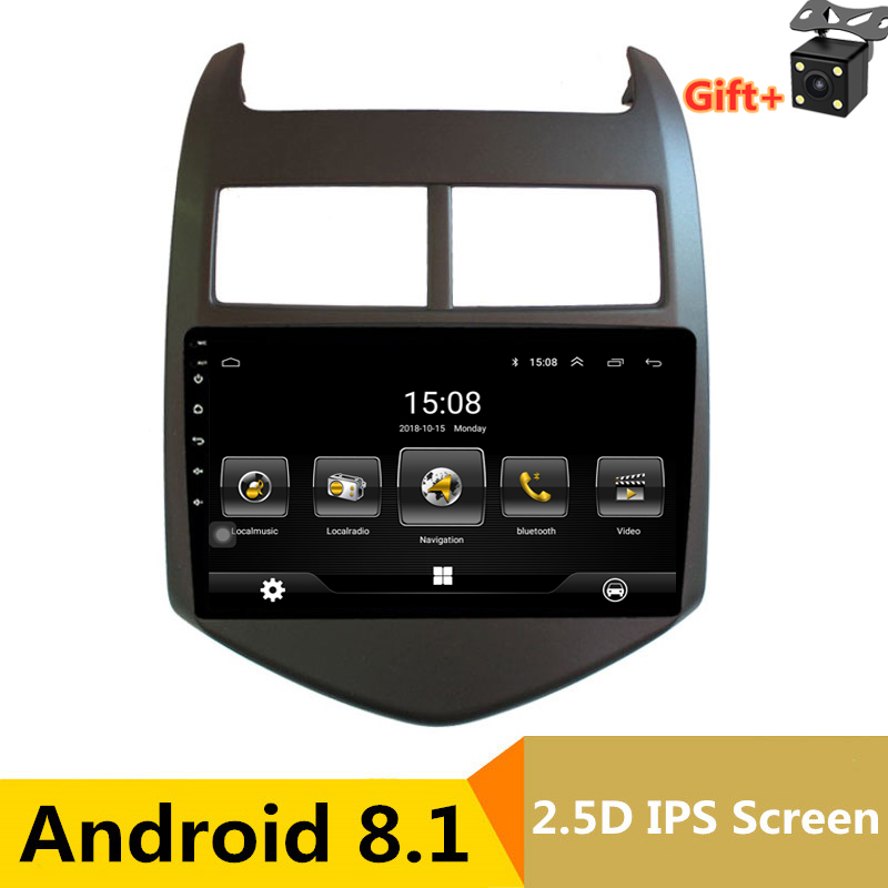 9 inch android 8.1 car dvd multimedia gps navigation for Chevrolet Aveo/Sonic 2011 2012 2013 radio stereo bluetooth wifi