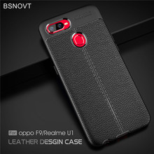 For OPPO Realme U1 Case Soft Silicone PU Leather Anti-knock Phone Cover Funda BSNOVT