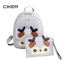 Ciker 2017 мода олень женщины рюкзак для девочек рюкзаки рюкзаки женщины мешок школы моды девушки сумки леди рюкзак mochilas