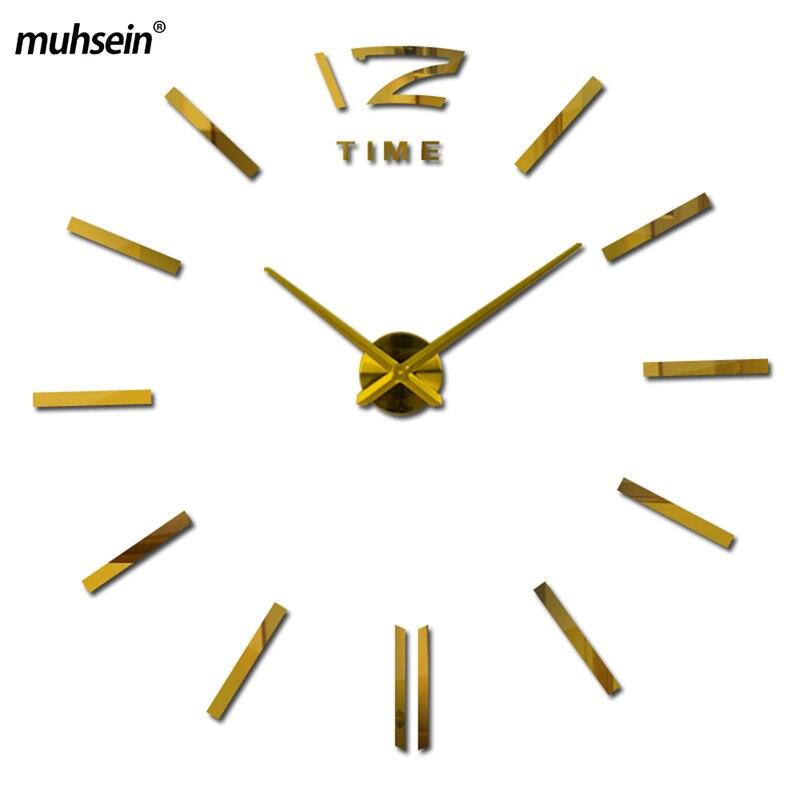 Akrilna ura Horloge 3d Diy akrilna ogledala nalepke ura ure stenske ure doma dekoracija dnevna soba kremen brezplačna dostava