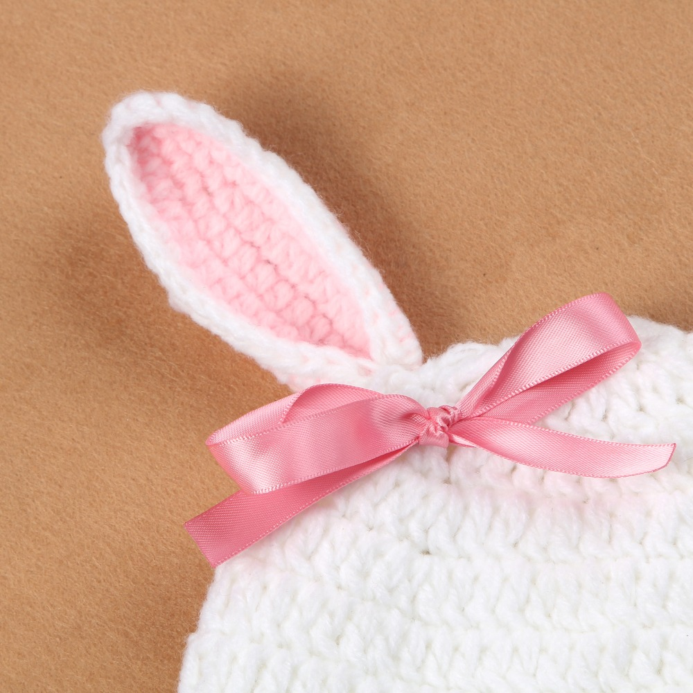Baby Photography Prop Handmade Crochet Knitted Costume Bunny Hat ...