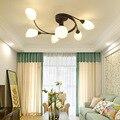 LukLoy Современная оригинальная Светодиодная лампа люстра Внутреннее потолочное освещение простая лампа для спальни Гостиная крепеж для пот...