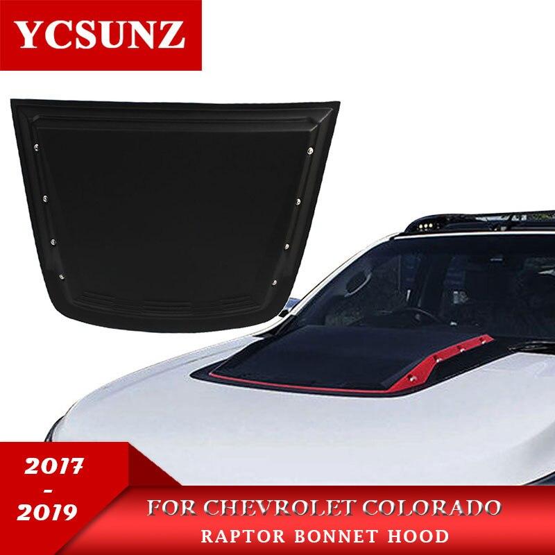 Matte Black Scoop Bonnet Vent Hood Cover For Chevrolet Holden Colorado Z71 2017