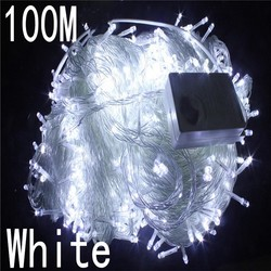 white colour 100 meter 800 LED Christmas Lights 8 Modes for Decorative Christmas Holiday Wedding Parties Indoor / Outdoor Use