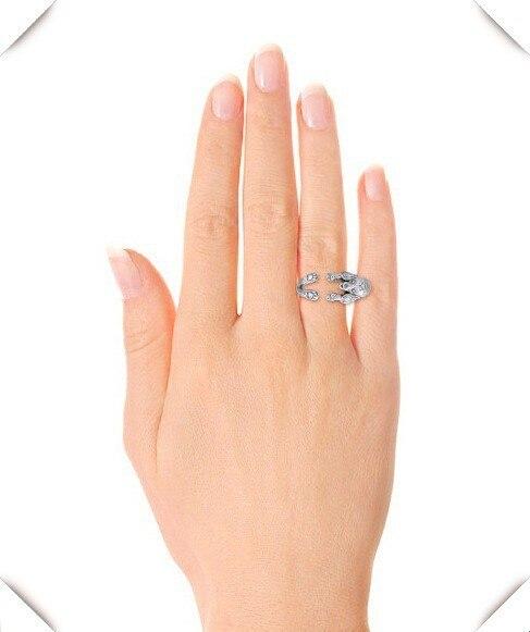 Купить регулируемое кольцо хиппи мультфильм с пуделем свободного размера