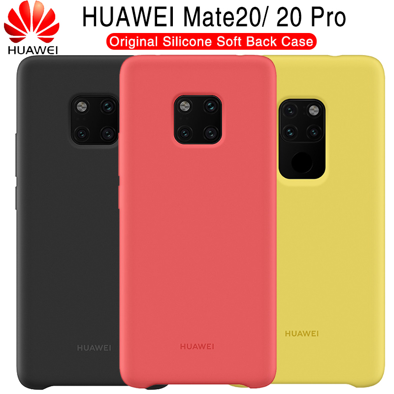 Huawei Compagnon 20 Cas D'origine 100% Officiel Silicone Souple Protection Couverture Arrière Huawei Compagnon 20 Pro Cas Compagnon 20 Silicone couverture