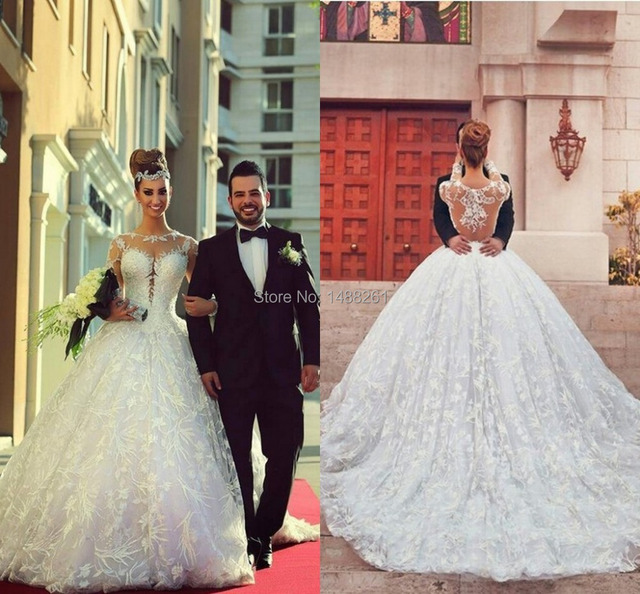 Huge Lace Wedding Dress