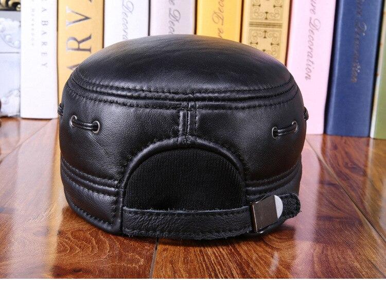 Sheepskin flat cap (8)