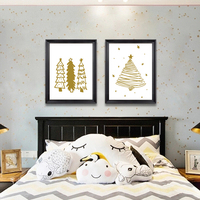 Nordic Little Bear Canvas Painting Picture Wall Bedroom House Deco