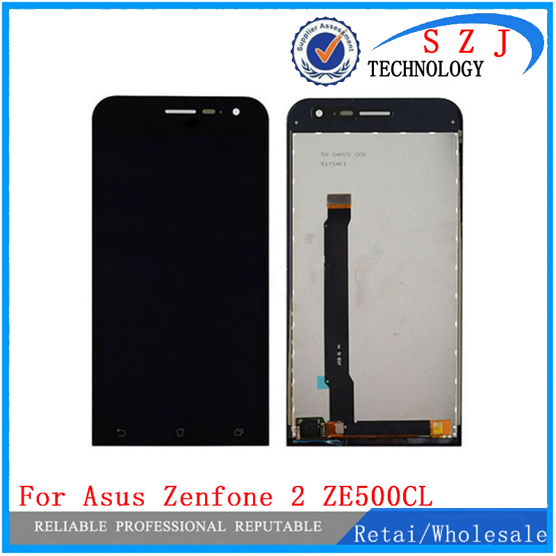 New 5'' inch case For Asus ZenFone 2 ZE500cl Z00d Full LCD Display + Touch Screen Digitizer Glass Assembly Free shipping black new original lcd display touch screen digitizer replacement assembly with tools for htc desire 500 free shipping