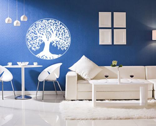 wall art vinyl sticker room decal mural decor tree of life. Black Bedroom Furniture Sets. Home Design Ideas