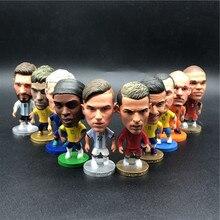 10 pces soccerwe 6.5cm altura bonecas de futebol escolha aleatória messi figura vendas quentes