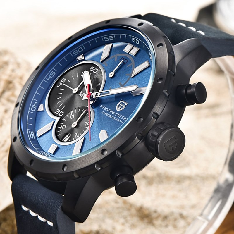 все цены на Luxury Brand PAGANI DESIGN Watches Men Military Waterproof Chronograph Sport Quartz Watch Relogio Masculino Saat Dropshipping