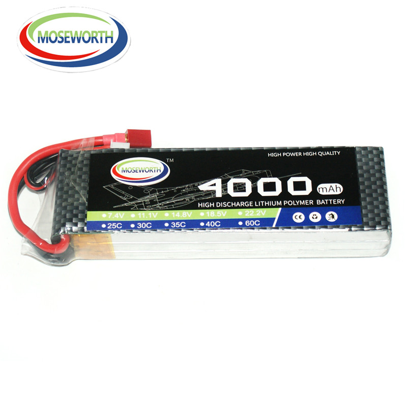 MOSEWORTH RC aircraft Lipo Battery 3S 4000mah 11.1V 30C for Helicopter Car quadcopter High rate Batteria 3S AKKU mos rc airplane lipo battery 3s 11 1v 5200mah 40c for quadrotor rc boat rc car