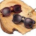 Oculos new marea que restaura maneras antiguas de madera payaso de turismo y ocio gafas de sol gafas de sol de las mujeres gafas de sol estilo de la estrella caliente