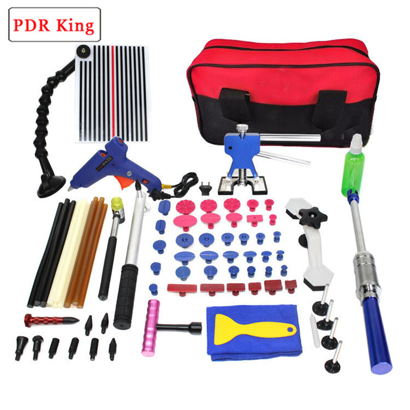 Paintless Dent Repair Kit Car Repair Kit PDR Tools Dent Lifter Bridge Puller Set Pdr Glue dent lifter kit reflector board tools pdr tool kit for pop a dent 57pcs car repair kit pdr tools pdr line board dent lifter set glue stricks pro pulling tabs kit