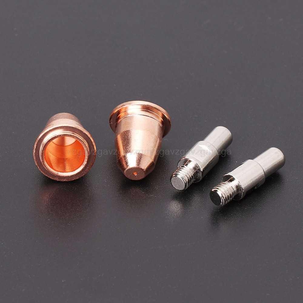 10 Cái/bộ S45 Bị Tiêu Thụ Bộ Điện Cực 0.8 Mm Mũi Cho Cắt Plasma Đèn Pin Au16 Trang Sức Giọt