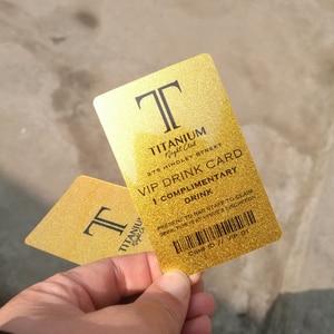 Image 2 - Высококачественная блестящая металлическая золотистая пластиковая Визитная карточка, индивидуальная печать 100 карт в дизайн