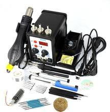 8586 2 in 1 ESD Lötstation SMD Rework Lötstation Heißluftpistole set kit Schweißen Reparatur werkzeuge Lötkolben EU 220 V/110 V
