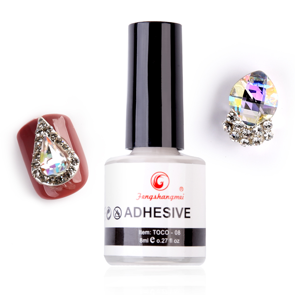 Fengshangmei Nail Art Glue For Foil Adhesive Professional Acrylic Glue Transfer False Tips Gel Nail Glue