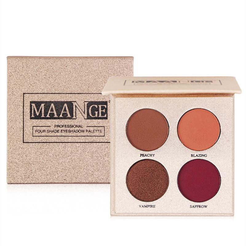 Four-color charm color eye shadow matte makeup rose gold girl palette 2019 four-color hot sale