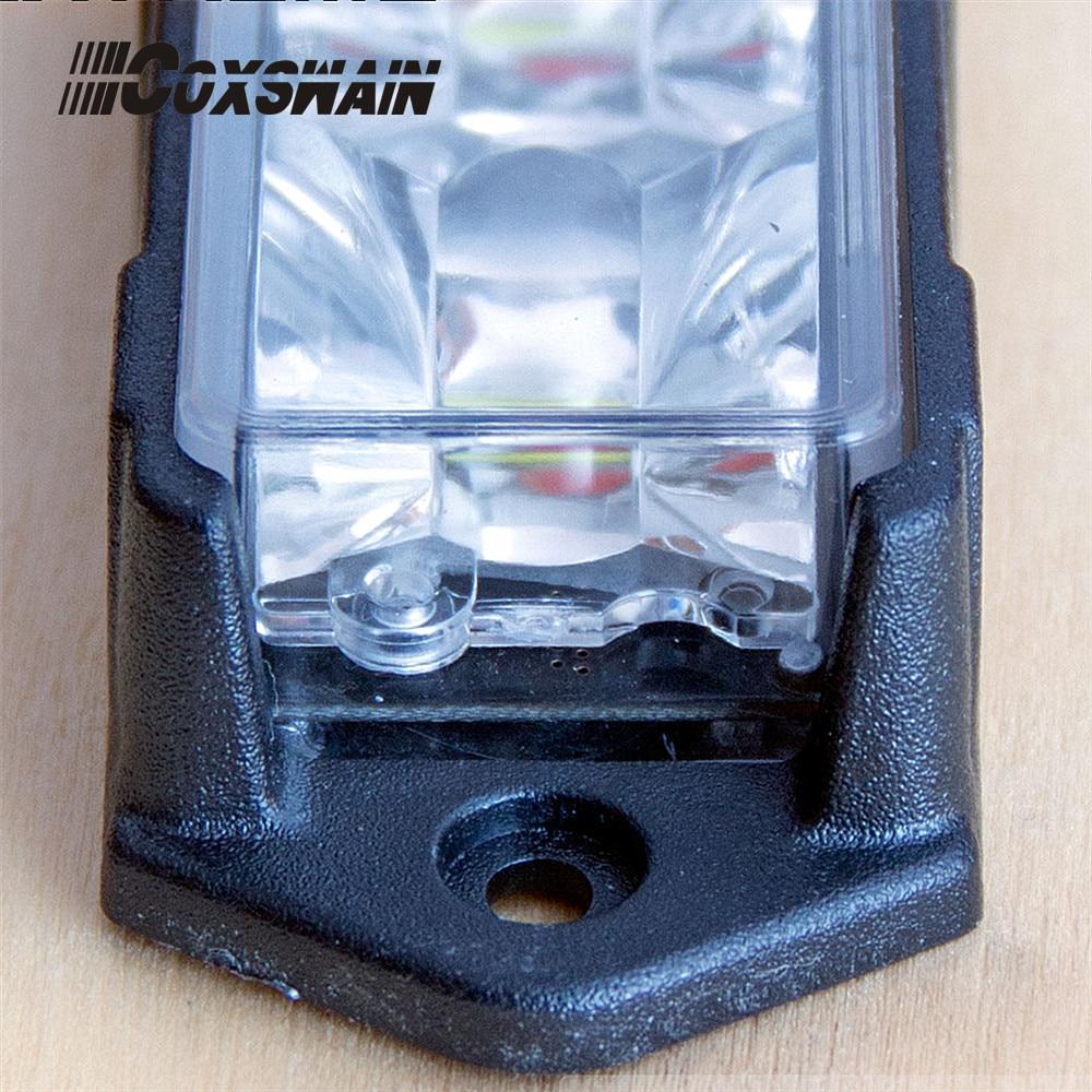 Купить с кэшбэком DUAL COLOR Car LED Grill Surface Mounting strobe light, 6*3W each LED, LED Strobe warning light Truck Traffic Beacon (VS-938D)