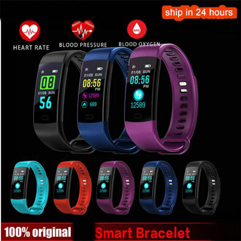 K31 Color Screen Smart Wristband Sports Bracelet Heart Rate Blood Pressure Oxygen Fitness Tracker for OPPO A57 A77 A59s A37 R11