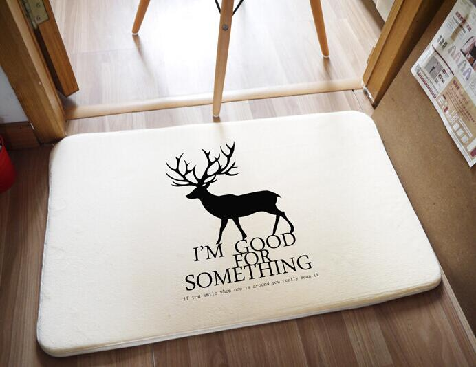 Bath Mat Deer Printing Rug Toilet Carpet Suede Non Slip Absorbent Shower Bathroom Rugs Tapete Para Banheiro In Mats From Home Garden On