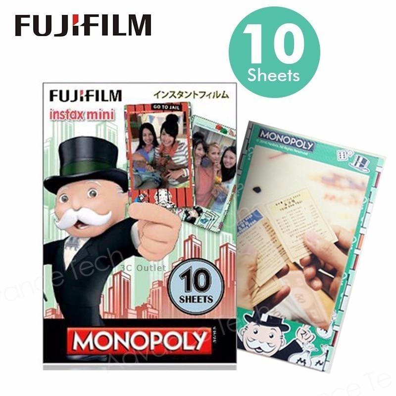 Wholesales Genuine Fujifilm Instax ,Monopoly Instant Mini Film For Mini7s 8 25 50s 70 90 SP1 SP2 LOMOphoto camera