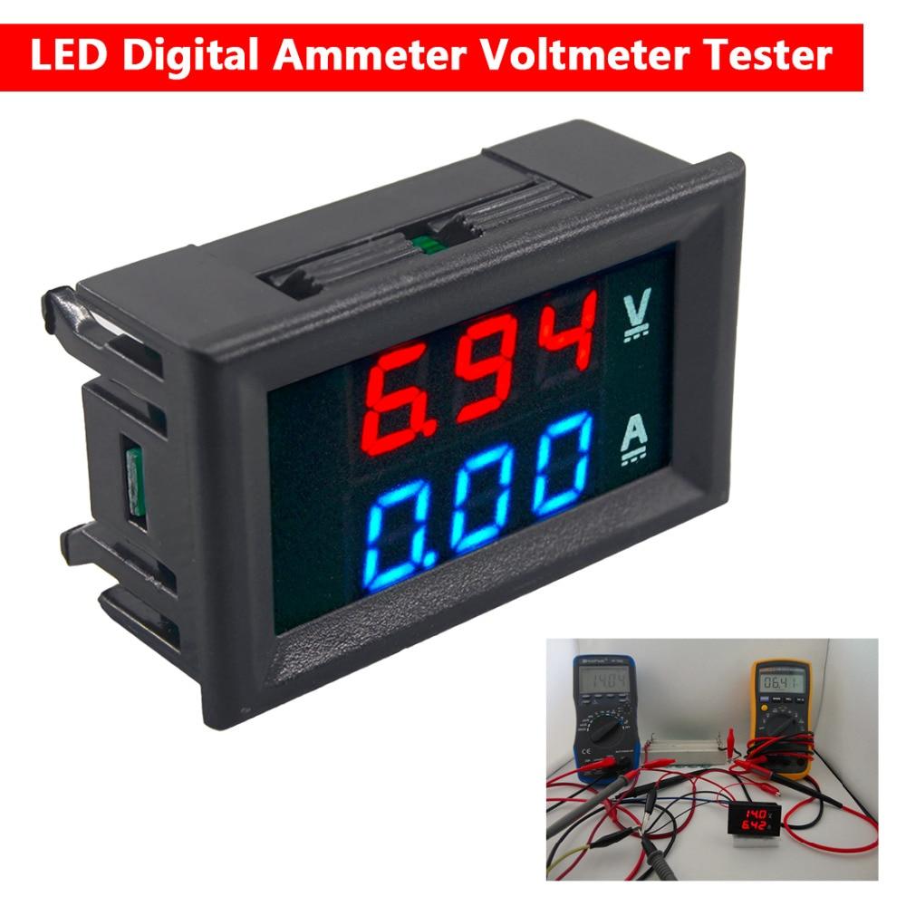 Amp Volt Voltage Current Meter Tester 1pc DC 100V 10A Panel Mini Digital Voltmeter Ammeter 0.28