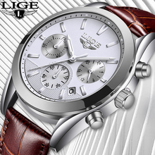 Relojes Hombre 2019 LIGE Mens Watches Top Brand Luxury Brown