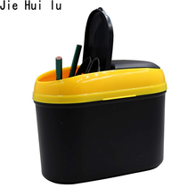 Car Trash Can Plastic Garbage Bin Best Waste Rubbish Litter Container for Vehicle Office Study Room цена и фото